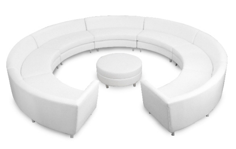 Curved sofa with ottoman canadianspecialeventscom for Curved sectional sofa with ottoman