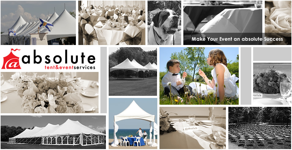Absolute Tent and Event Services collage