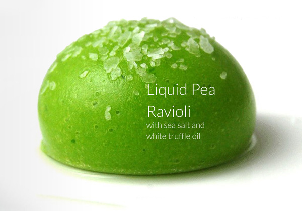 Liquid Pea Ravioli