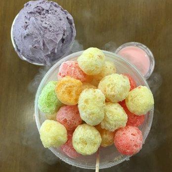 how to make liquid nitrogen ice cream balls