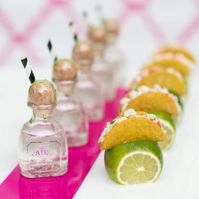 Adorable Mini Tacos and Tequila by 10tation Event Catering