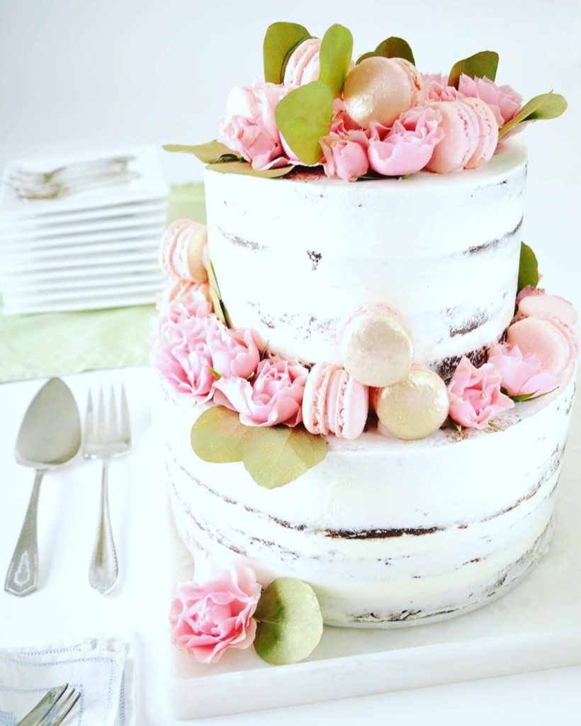 Naked wedding cake by Culinary Capers Catering