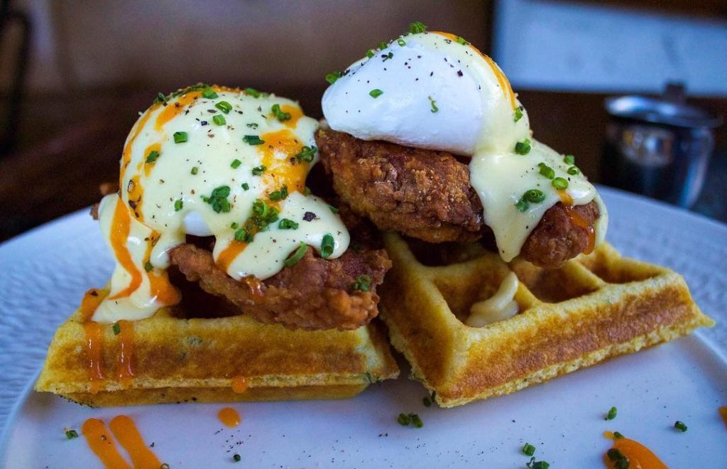 Chicken and Waffles for Sunday Brunch by Food Dudes