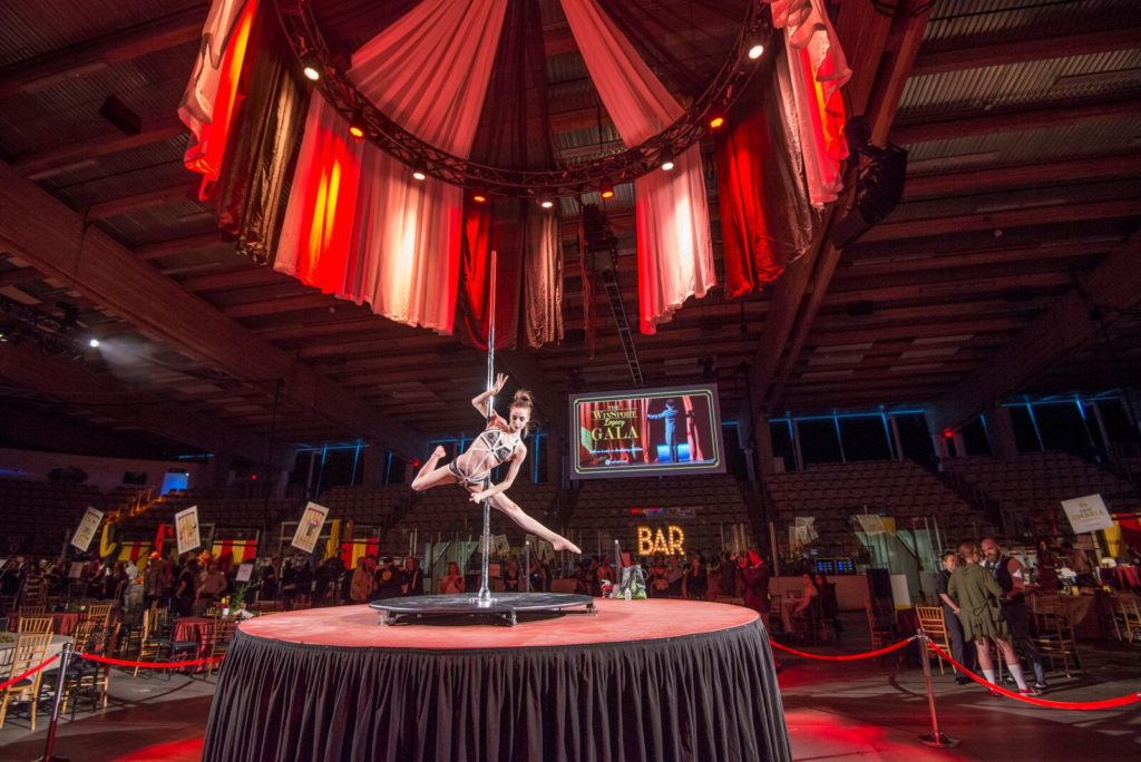 Custom made circular stages were transformed into massive draped circus tents built onto a motorized truss which would rise and fall as each new act ... & OneWest Events Gets Freaky For Winsport u2013 CanadianSpecialEvents.com