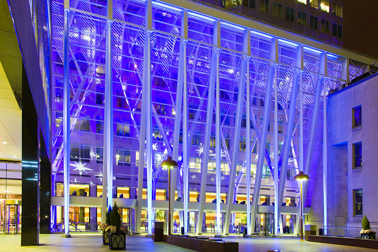 Brookfield Place Galleria LED Architectural lighting by Westbury Photo Credit: Henry Lin