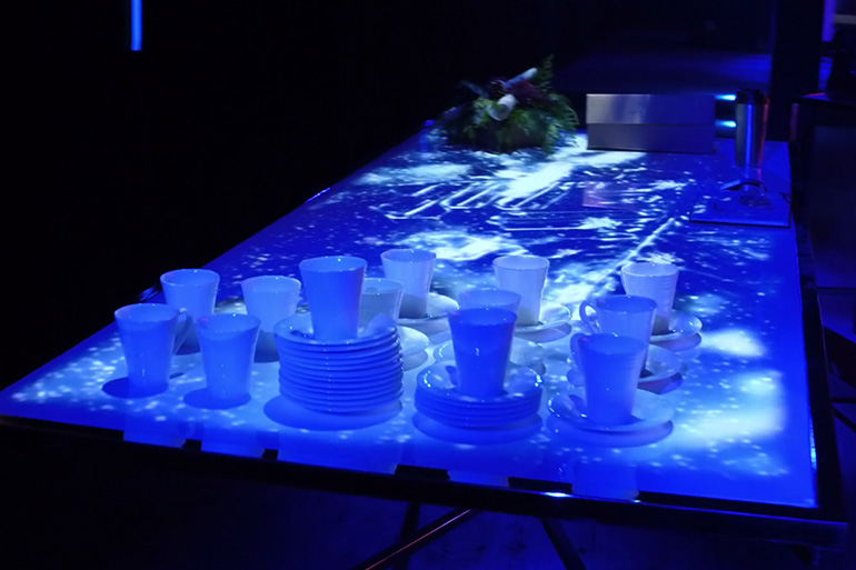 FMAV showed clients what is possible with tabletop projection as decor.