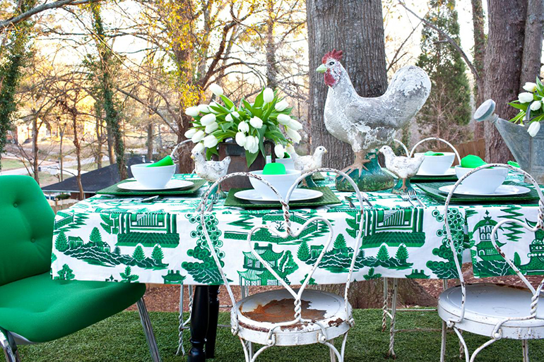 Outdoor Kitschy Table Setting